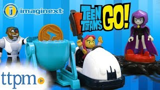 Imaginext Teen Titans Go! Pizza Party Starfire Magic Attack Raven & Meat Party Cyborg