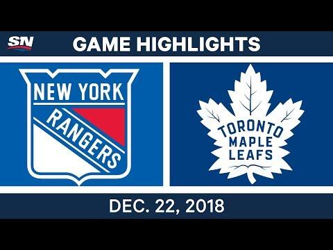 NHL Highlights | Rangers vs. Maple Leafs - Dec 22, 2018