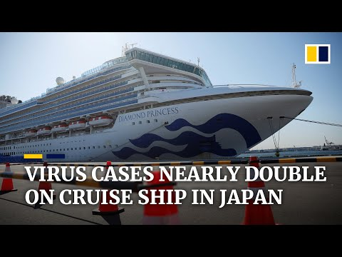 Coronavirus infections nearly double on Diamond Princess ship stranded in Japan