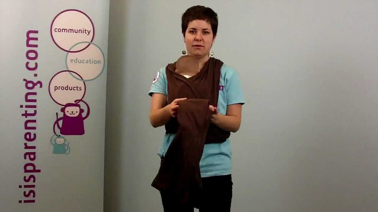 How To Wear Your Baby In A Baby K Tan Wrap A Demonstration Isis