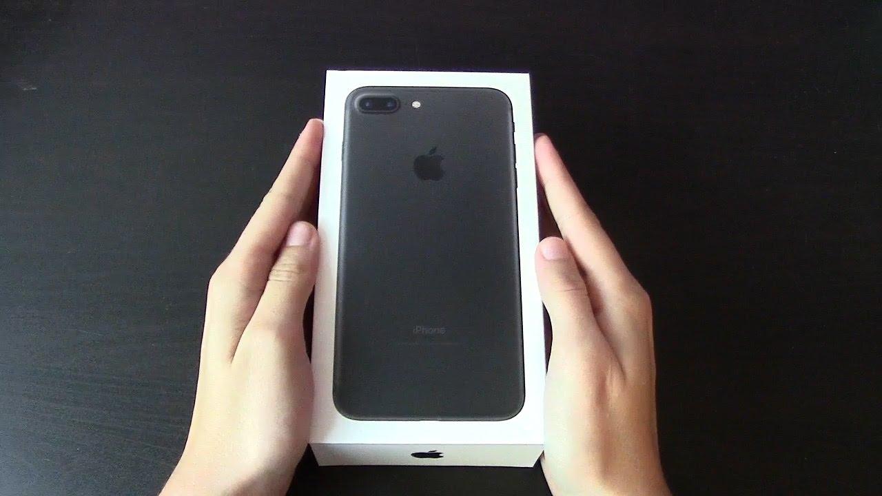 Iphone 7 Plus Schwarz Unboxing Youtube