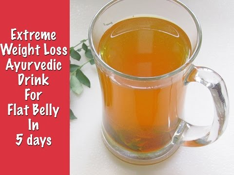 fat-cutter-drink-for-extreme-weight-loss---get-flat-belly-in-5-days-with-turmeric-&-curry-leaves-tea