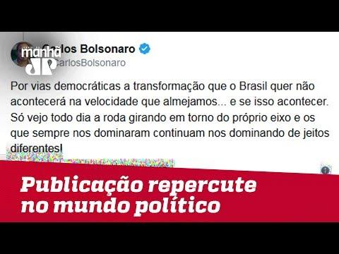 Publicação de Carlos Bolsonaro repercute no mundo político