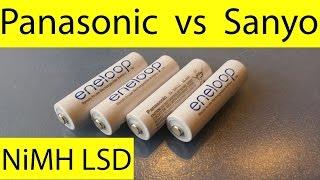 Panasonic Eneloop AA vs Sanyo Eneloop AA.