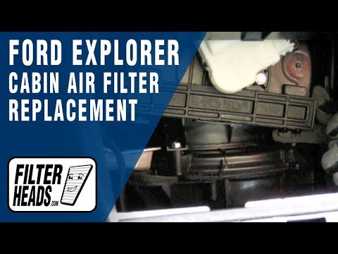 How To Replace Cabin Air Filter Ford Explorer Youtube