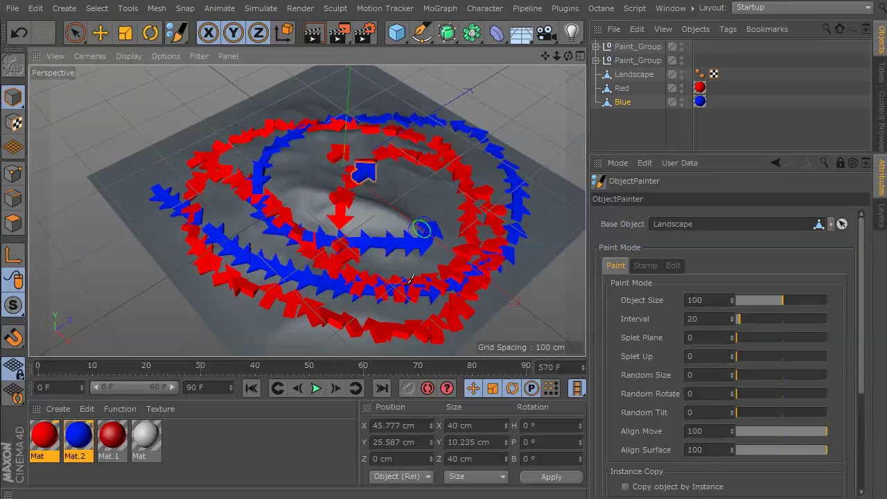 Paint Objects on to Surfaces With ObjectPainter for C4D - Lesterbanks