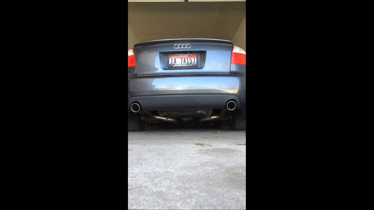 Audi A4 B6 2.7t Custom Exhaust - YouTube