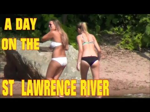 A DAY ON THE ST LAWRENCE RIVER!!! 1000 ISLANDS  ALEXANDRIA BAY NY