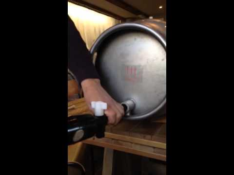 Setting Up And Tapping A Cask Of Real Ale