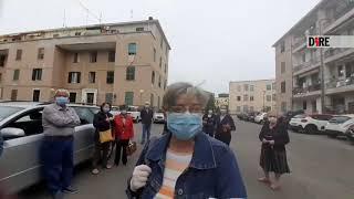 Pescara - Mercato nel quartiere San Giuseppe, ambulanti chiedono di lavorare (19.05.20)