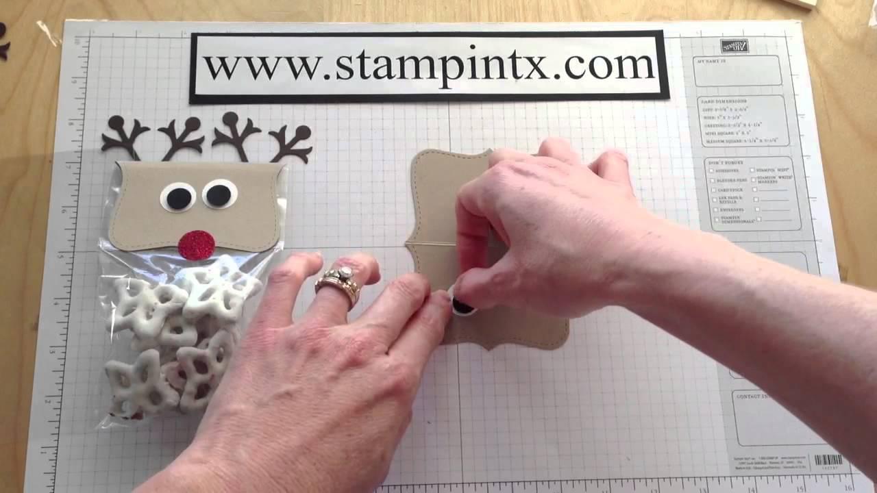 How To Create A Reindeer Treat Bag Topper  Cute Christmas Gift Idea