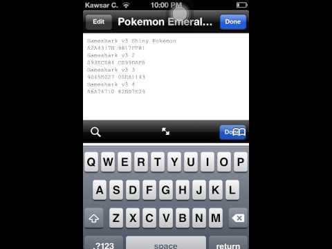 Shiny Cheat Code Pokemon Emerald Gpsphone - YouTube
