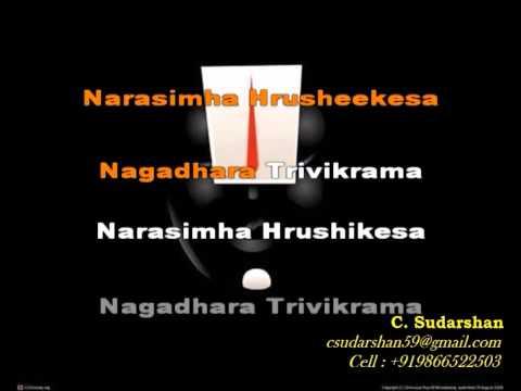 Madhava Keshava - Video Karaoke