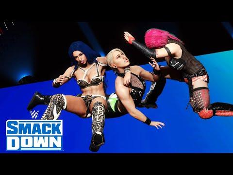 WWE 2K20 SMACKDOWN ASUKA ATTACKS BOTH RHEA RIPLEY & SASHA BANKS