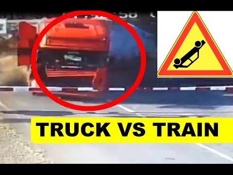 TRUCK VS TRAIN - 3 DEAD RAILROAD CROSSING ACCIDENT Studenka, Czech Republic