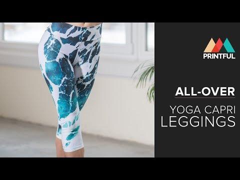 All-over yoga capri leggings: Printful showcase