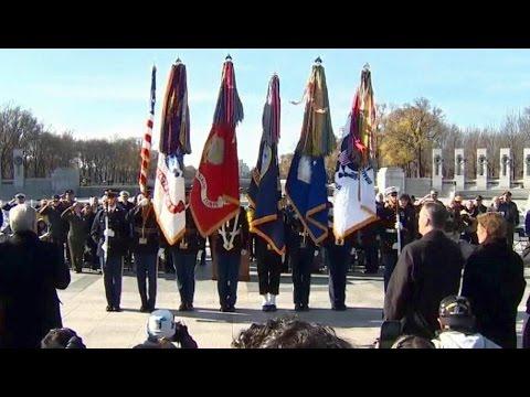 Pearl Harbor Anniversary Ceremony at WWII Memorial. Dec 7. 2016. Washington, D.C. 75th ceremony.