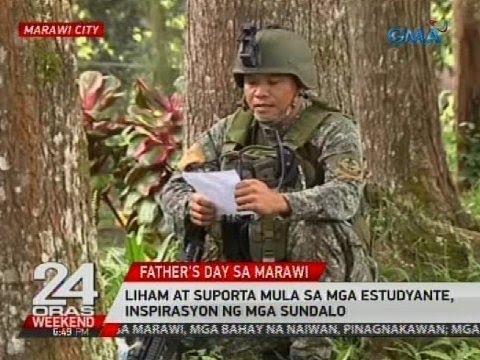 Liham at suporta mula sa mga estudyante, inspirasyon ng mga sundalo