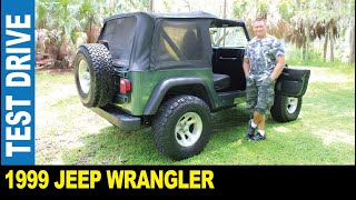 1999 Jeep Wrangler Sport manual trans 4WD off-road test drive by Jarek Pinellas Park Florida USA