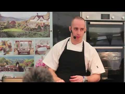 Linthwaite House Hotel - Head Chef Chris O'Callaghan cooking demo at Westmorland Show 2012