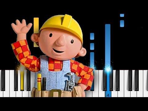 Bob The Builder Piano Tutorial Youtube