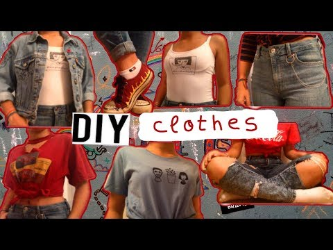 7 diy aesthetic clothes ideas 🦋 (4 poor people who cant afford the clothes they like)