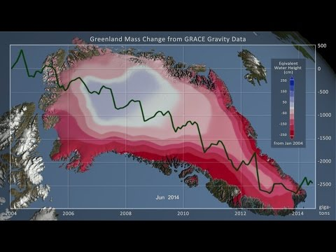 Greenland Ice Mass Loss: Jan. 2004 - June 2014