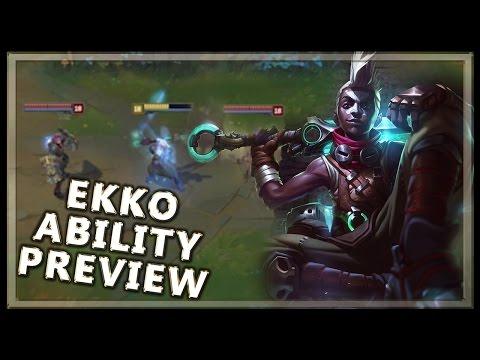 Ekko Gameplay Ability Champion Spotlight Preview - League of Legends