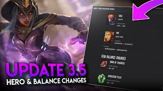 THIS CHANGES EVERYTHING!! [3.5 Hero & Balance Changes] !! Vainglory News