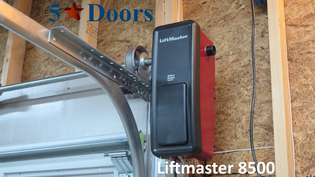 garage door shaftLiftMaster 8500 Residential Jack Shaft Garage Door Opener  YouTube