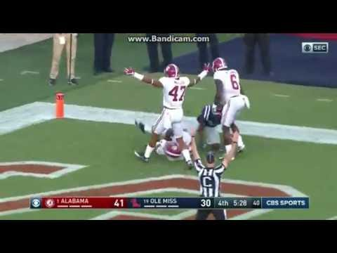 College Football: Alabama Crimson Tide Vs The Ole Miss Rebels