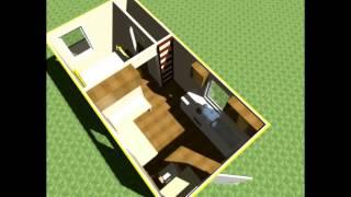 $3,000 Tiny House Design - 10x20 Lofted Tiny Home W/ Outside Greenhouse Bathroom