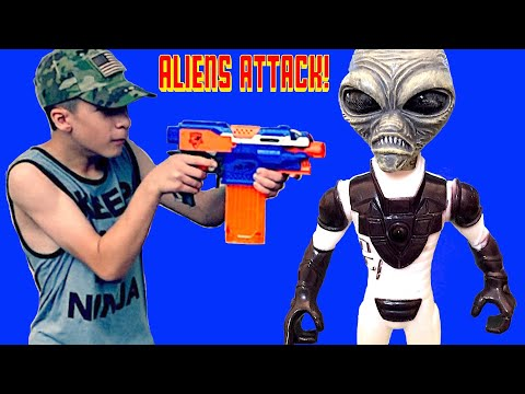 Nerf War: ALIENS in Roswell New Mexico!