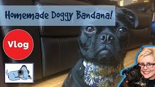 How to Make a Dog Bandana! Handmade DIY Doggy Bandana! Budget Dog Bandana, Dog Clothes Made Easy