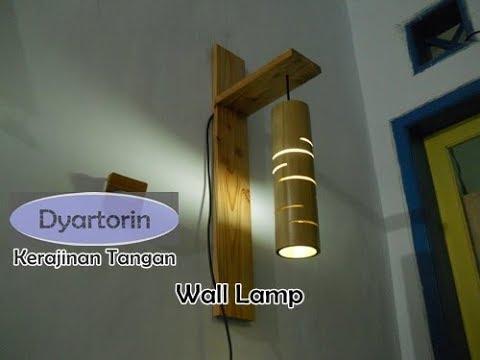 Kreasi Lampu Dinding Gantung dari Kayu Bambu Bekas | Bamboo Wall Hanging Lamp