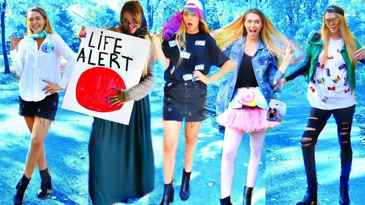 8 LAST-MINUTE DIY FUNNY HALLOWEEN COSTUMES 2017! COSTUME IDEAS ...