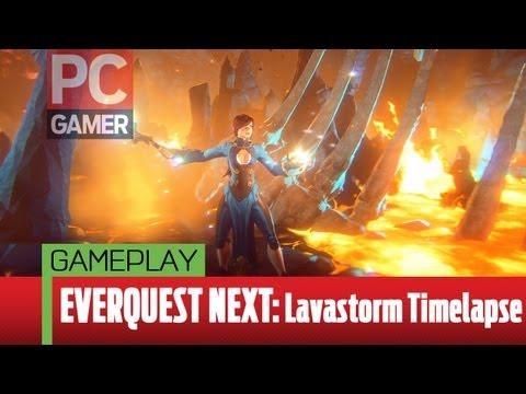 EverQuest Next Landmark gameplay – Lavastorm timelapse