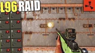 Raiding a ARMORED BASE with ONLY L96 in RUST! (ACTUALLY WORKED)