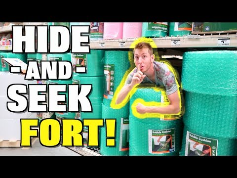 HIDE AND SEEK FORT CHALLENGE!
