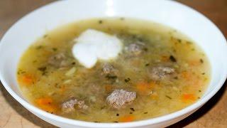 Щи из квашеной капусты с фрикадельками | Sauerkraut Soup with Meatballs (Shchi)