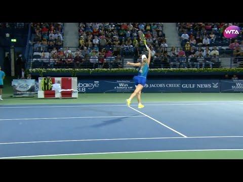 2017 Dubai Duty Free Tennis Championships Semifinals   Shot of the Day   Caroline Wozniacki