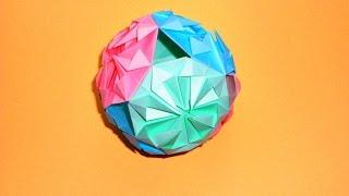 Кусудама шар из бумаги Новогодние поделки оригами
