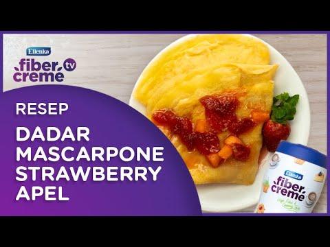 Dadar Mascarpone Strawberry Apel Ide Cemilan Manis Tapi Tetap Sehat Youtube