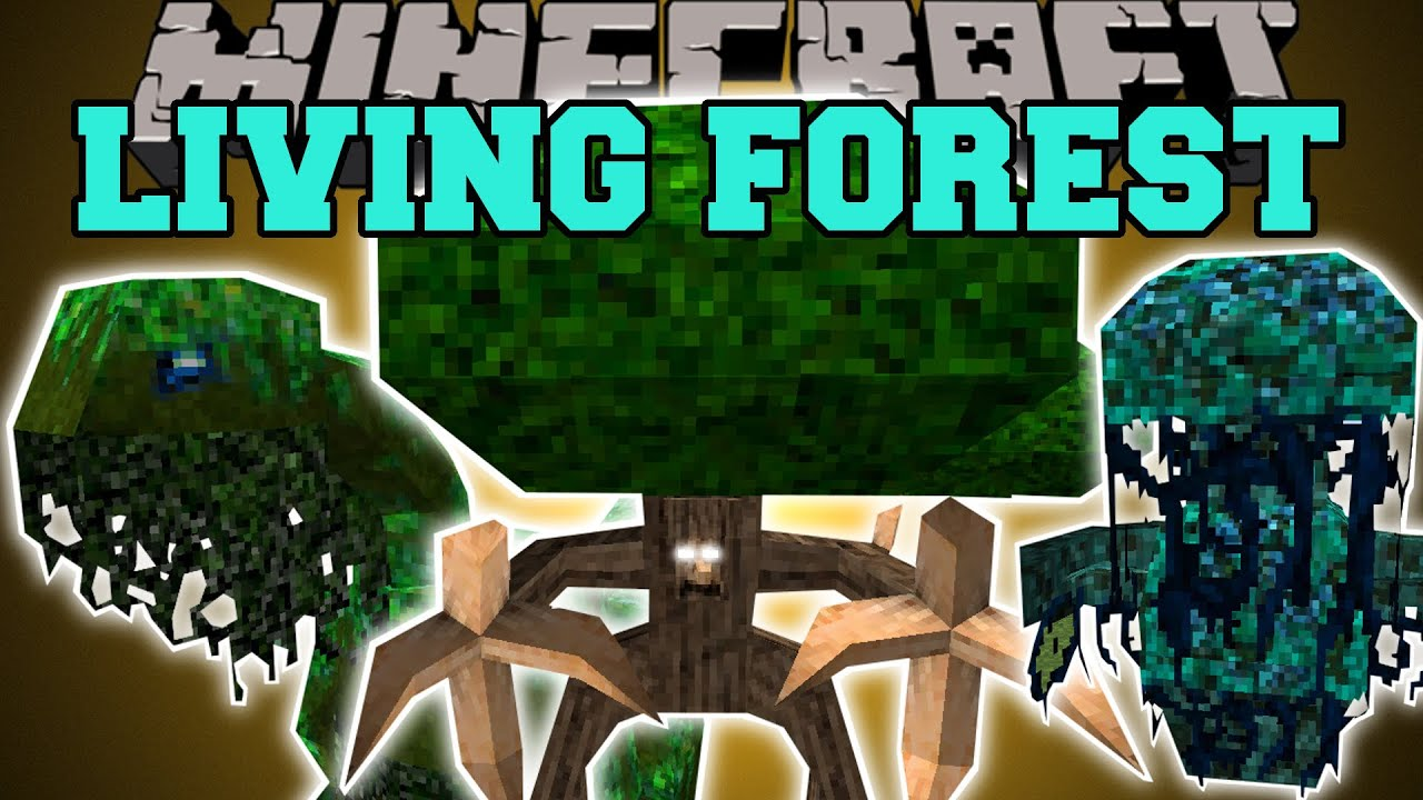 Minecraft: LIVING FOREST (EVIL TREES, LEAFY DINOSAURS, LIFE DRAINING PETS,  U0026 MORE!) Mod Showcase   YouTube