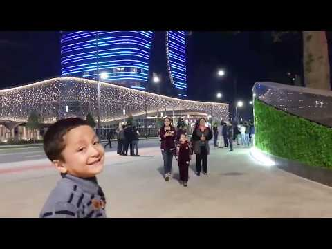 "NEW ""Tashkent City Park""-WALKING AT NIGHT/НОЧНОЙ ""Tashkent City"""