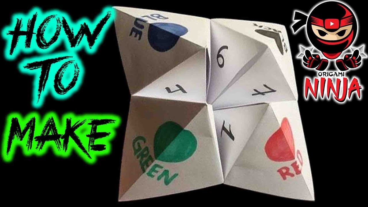 How to fold origami fortune teller youtube how to fold origami fortune teller jeuxipadfo Gallery