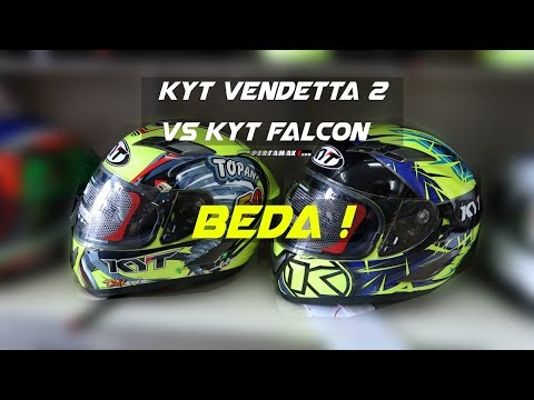 44e5fe649f93af Perbedaan Helm KYT Vendetta 2 VS Falcon Indonesia By Pertamax7 - YouTube