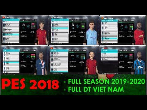 PES 2018 NEXT SEASON 2020 PATCH SMOKE AIO 18.1.3 Full Đội tuyển Quốc gia Việt Nam