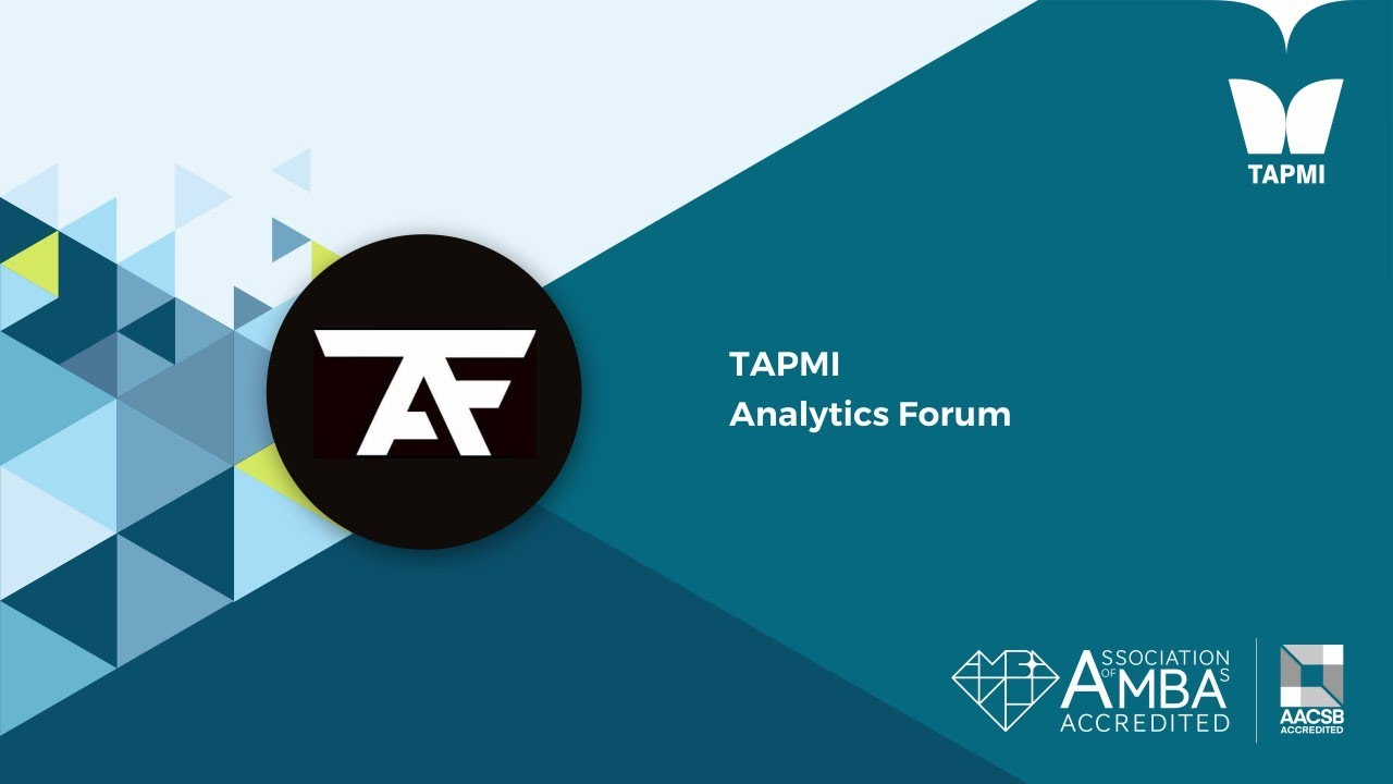 TAPMI Analytics Forum