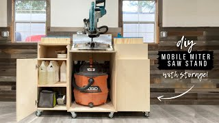 DIY Miter Saw Stand With Storage   How To